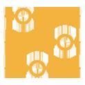 Icon bearbeiten, warten, orange, icon, verbessern, optimieren